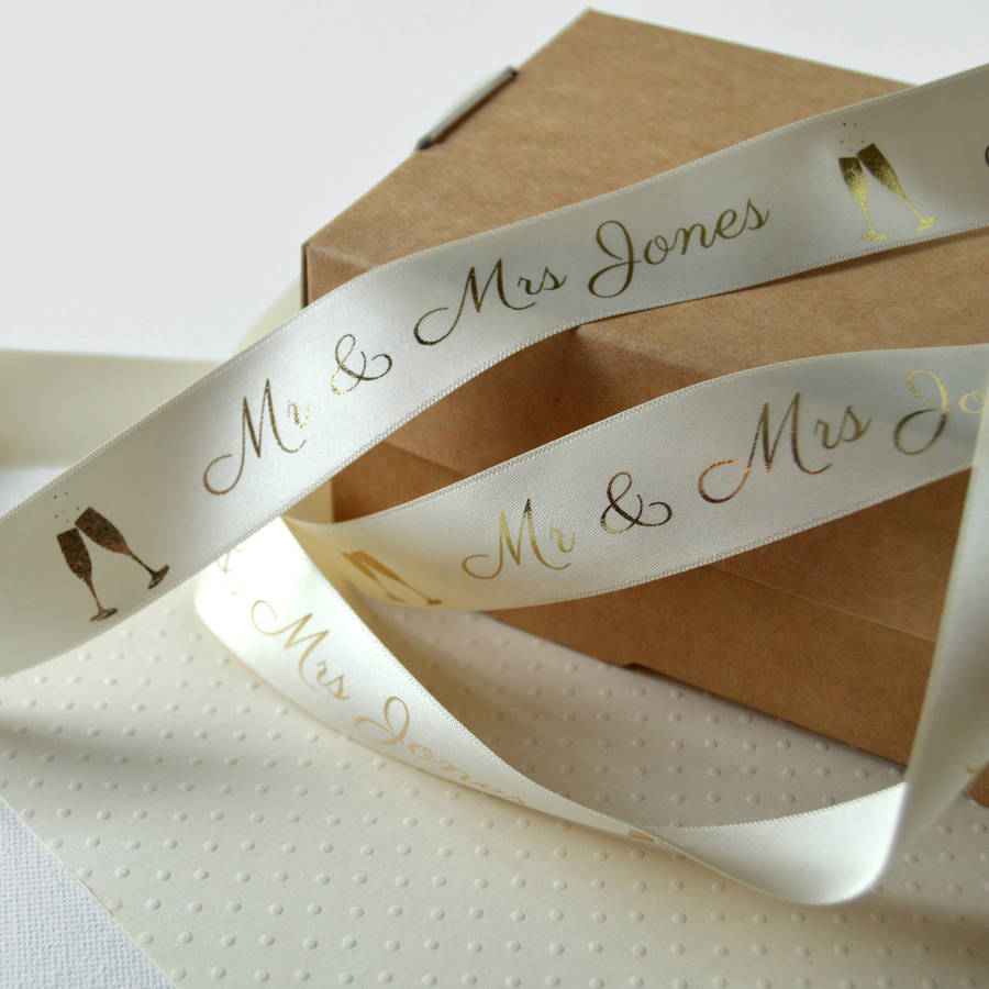 25mm Personalised Wedding Ribbon The Ribbon Co