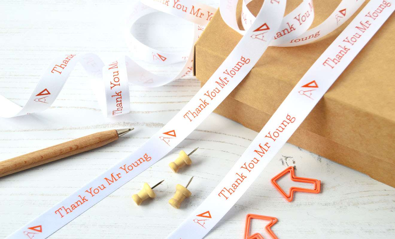 15mm Personalised Teacher Ribbon